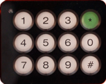 Dial Keypad for Ex Intercom Stations