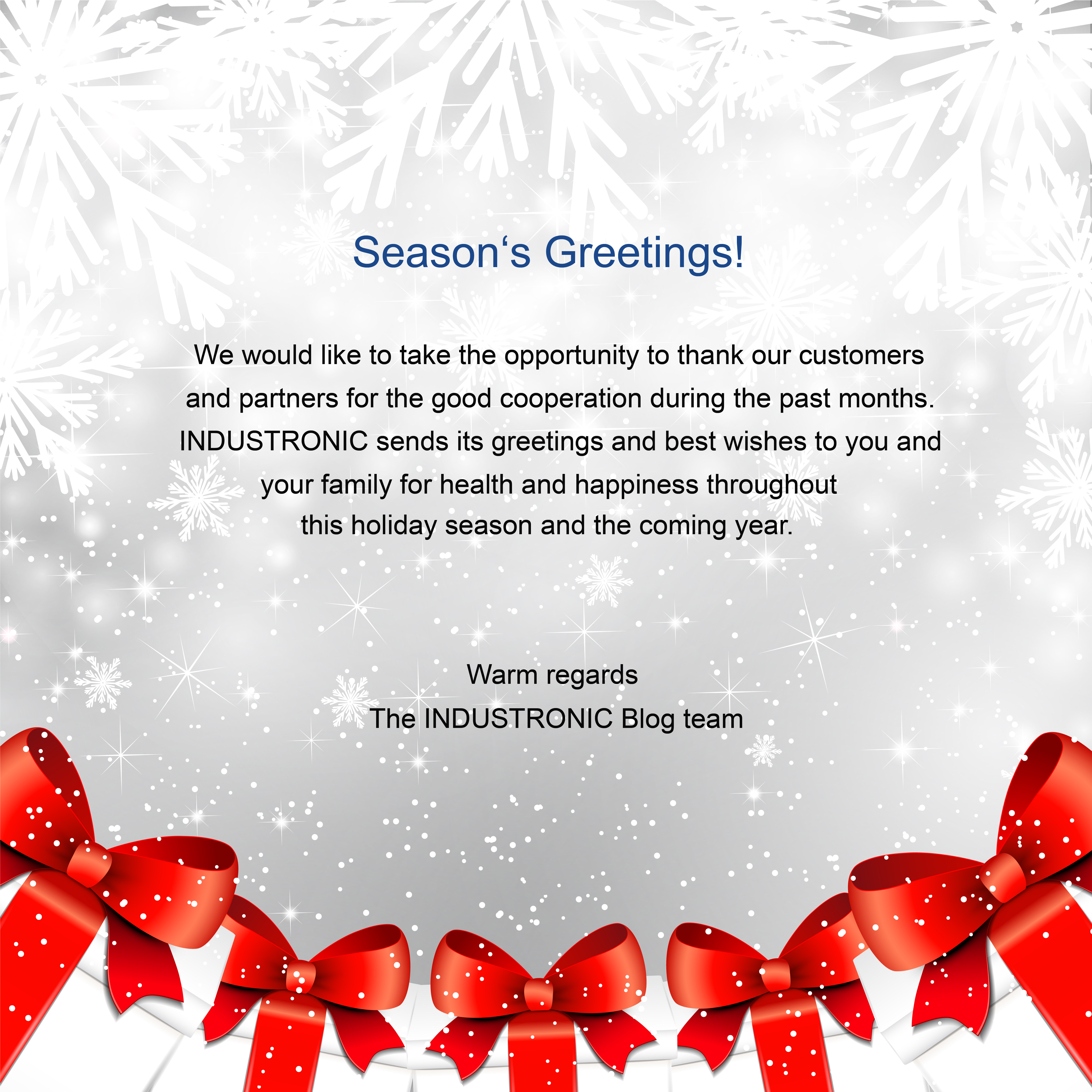 Seasons Greetings From Industronic