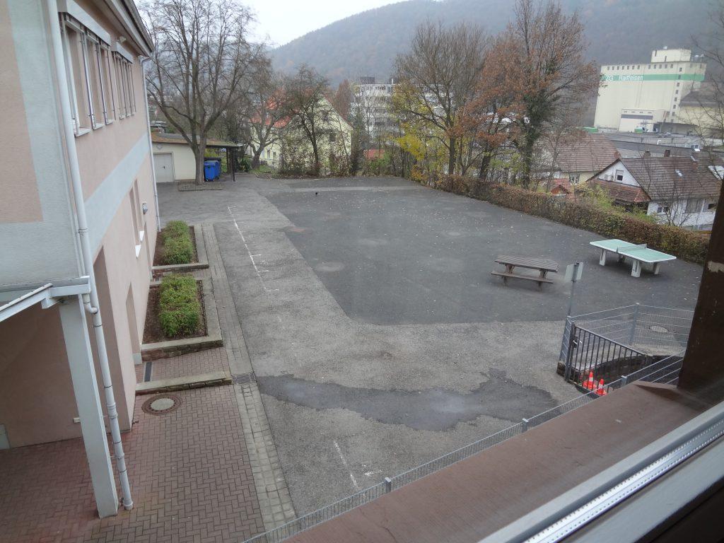 Schoolyard before renovation