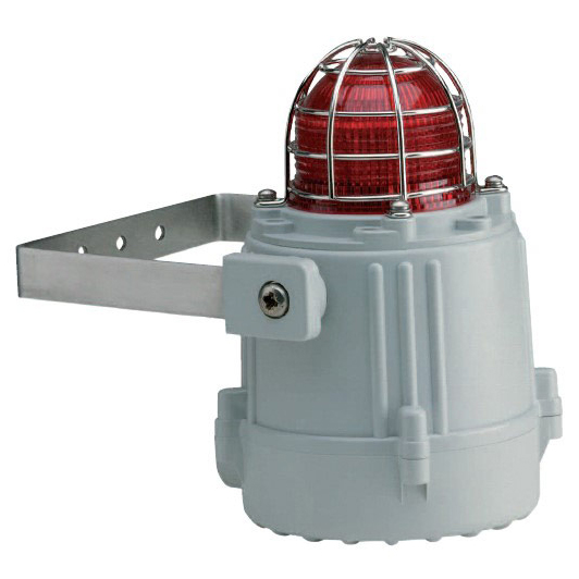 Flashing Warning Beacon for  use in industrial environment with roubust fire-retardant plastic housing and degree of protection IP66 and IP67