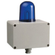 Flashing Warning Beacon for  use in industrial environment with sturdy ABS housing and degree of protection IP54